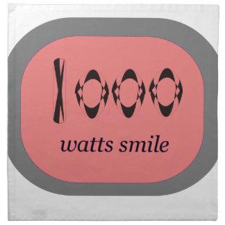 1000 Watt Lächeln Stoffserviette