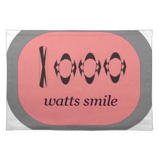 1000 Watt Lächeln Tischset