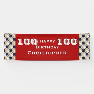 100. - 105. Geburtstags-Party-Baseball-Fahne Banner