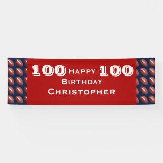 100., 105. Geburtstags-Party-RIESIGE Fußball-Fahne Banner