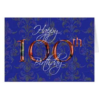 100. alles Gute zum Geburtstag Karte