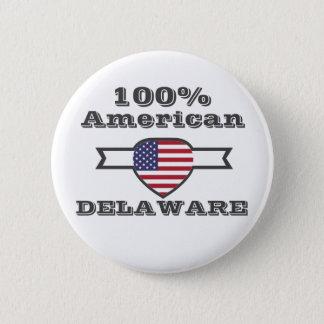 100% Amerikaner, Delaware Runder Button 5,1 Cm