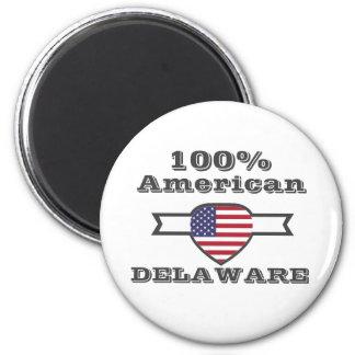 100% Amerikaner, Delaware Runder Magnet 5,7 Cm