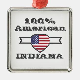 100% Amerikaner, Indiana Silbernes Ornament