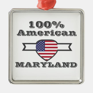 100% Amerikaner, Maryland Silbernes Ornament