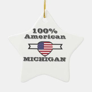 100% Amerikaner, Michigan Keramik Ornament