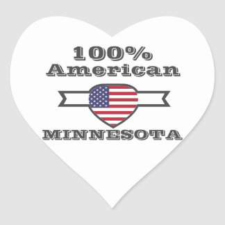 100% Amerikaner, Minnesota Herz-Aufkleber