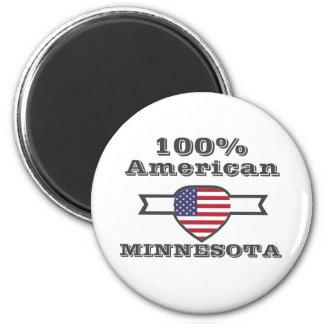 100% Amerikaner, Minnesota Runder Magnet 5,7 Cm