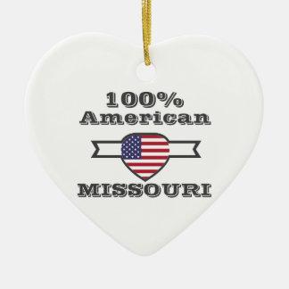 100% Amerikaner, Missouri Keramik Herz-Ornament