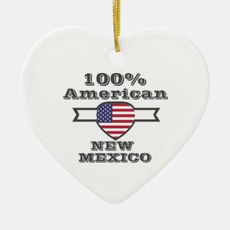 100% Amerikaner, New Mexiko Keramik Herz-Ornament