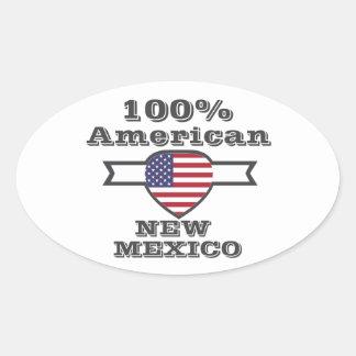 100% Amerikaner, New Mexiko Ovaler Aufkleber