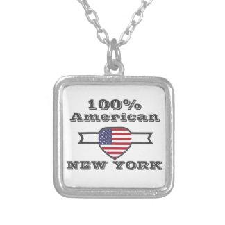 100% Amerikaner, New York Versilberte Kette