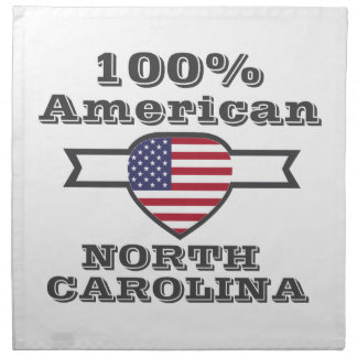 100% Amerikaner, North Carolina Stoffserviette