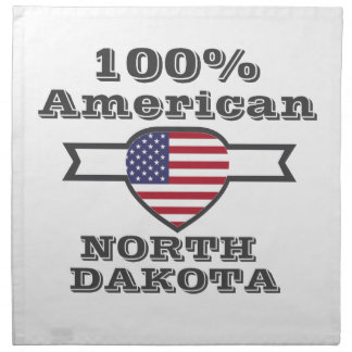 100% Amerikaner, North Dakota Serviette