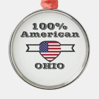 100% Amerikaner, Ohio Silbernes Ornament