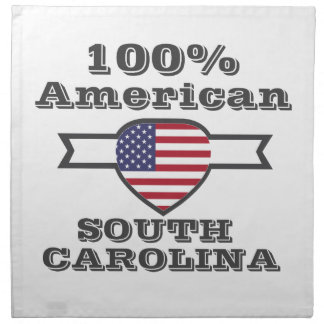 100% Amerikaner, South Carolina Stoffserviette