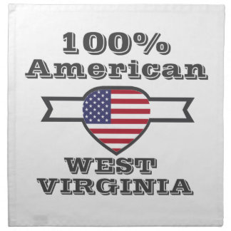 100% Amerikaner, West Virginia Serviette