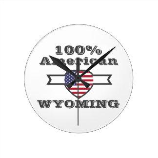 100% Amerikaner, Wyoming Runde Wanduhr