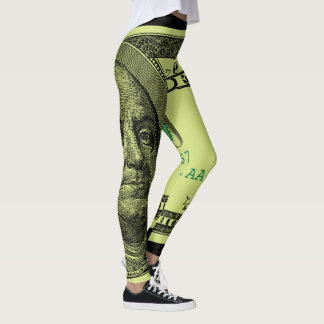 100 Bill Grafik Leggings
