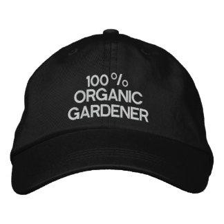 100% Bio Gärtner Bestickte Kappe