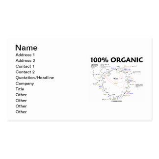 100% Bio (Krebs Zyklus-Spaß) Visitenkarten