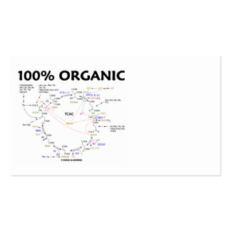 100% Bio (Krebs Zyklus - Zitronensäuren-Zyklus) Visitenkarten