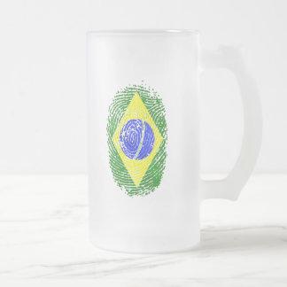 100% brasilianische DNS Fingerabdruck Mattglas Bierglas