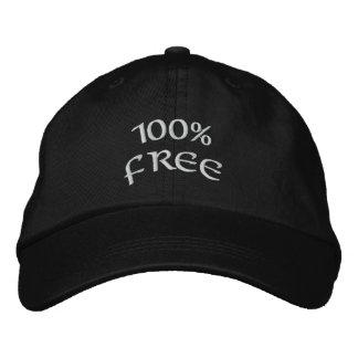 100% frei bestickte kappe