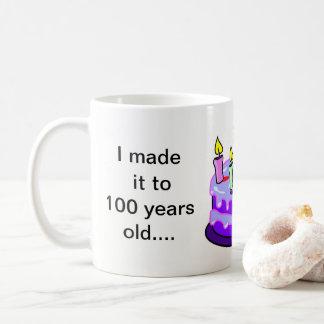 100. Geburtstag - Weiß 11 Unze-Klassiker-Tasse Kaffeetasse