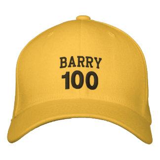 100 Geburtstags-individueller Name GOLDhut Bestickte Baseballkappe