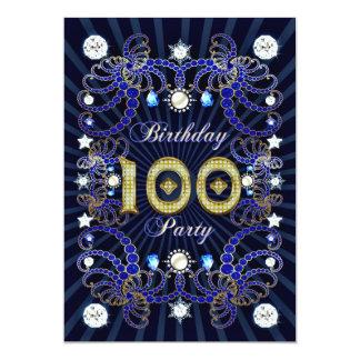 100. Geburtstags-Party laden mit Massen der 12,7 X 17,8 Cm Einladungskarte