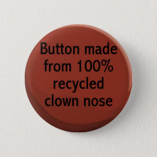 100% gerecycelter Clownnase Knopf Runder Button 5,7 Cm