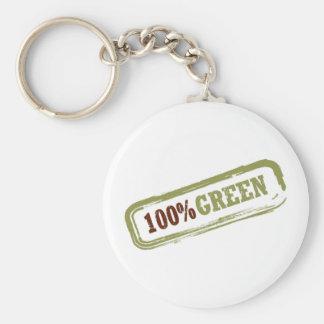 100% grünes Keychain Standard Runder Schlüsselanhänger