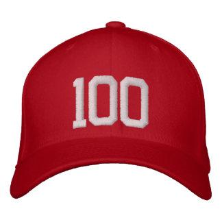100 hundert bestickte baseballkappe