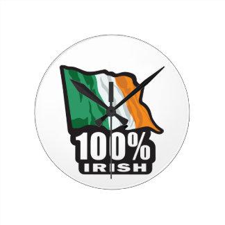 100% irisches stolzes, irisch zu sein runde wanduhr