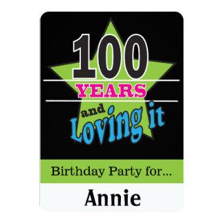 100 Jährig-Geburtstag 12,7 X 17,8 Cm Einladungskarte