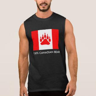 100% kanadischer Bärn-kanadische Flagge mit der Ärmelloses Shirt