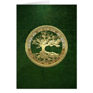 [100] Keltischer Baum des Lebens [Gold] Karte