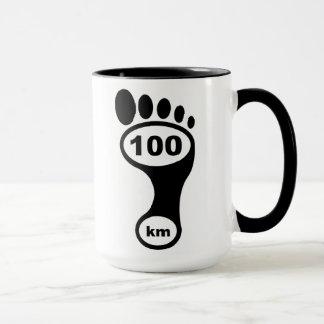 100 Kilometer barfüßig - klassische Tasse