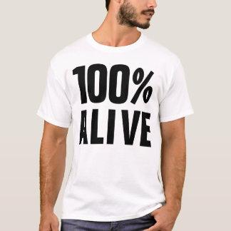 100% lebendiges 100% ja T-Shirt