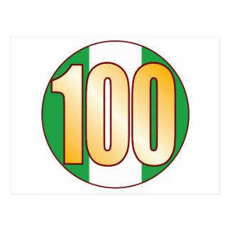 100 NIGERIA Gold Postkarte