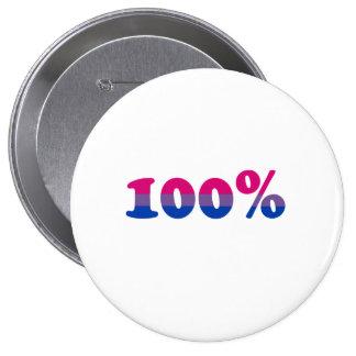 100 Prozent bisexuell Runder Button 10,2 Cm