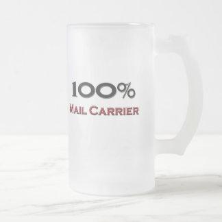 100 Prozent-Briefträger Mattglas Bierglas
