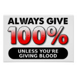 100 Prozent des Blut-lustigen Plakats Plakate