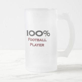 100 Prozent-Fußball-Spieler Mattglas Bierglas