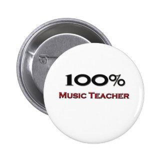 100 Prozent-Musik-Lehrer Button