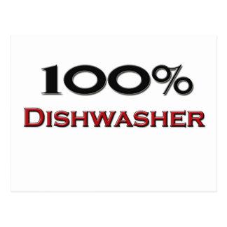 100 Prozent-Spülmaschine Postkarte