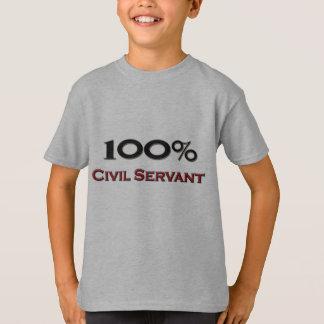 100 Prozent-ziviler Bediensteter T-Shirt
