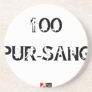 100 REIN-Blut - Wortspiele - Francois Ville Getränkeuntersetzer