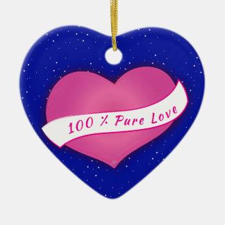 100% reine Liebe Keramik Ornament